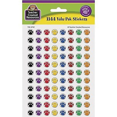 Teacher Created Resources Mini Stickers, Colourful Paw Prints,, 6864/Pack (TCR4742)