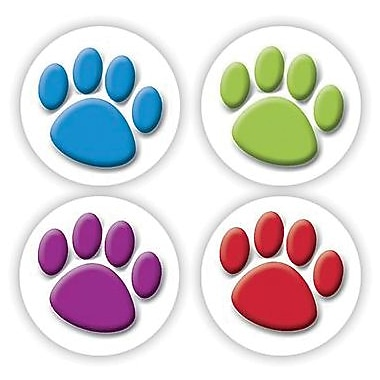 Teacher Created Resources® Stickers, Colorful Paw Prints, 120/Pack