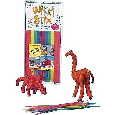 Wikki Stix Waxed Yarn Sticks, Neon, 144/Pack (WKX804)