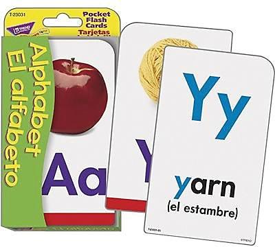 Trend Enterprises® Pocket Flash Card, Alphabet