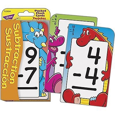 Trend Enterprises® Pocket Flash Card, Subtraction
