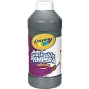 Crayola Artista ll Non-toxic 16 oz. Tempera Paint, Black (BIN311551)