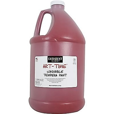 Sargent Art Art-Time Non-toxic 128 oz. Washable Tempera Paint, Red (SAR223620)