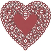 """Hygloss Heart Paper Lace Doilies, 4"""", Red, 400/Pack (HYG91044)"""