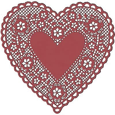 Hygloss® Heart Paper Lace Doilies, 4