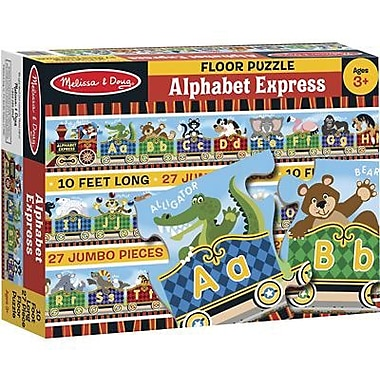 Lights Camera Interaction Floor Puzzle, Alphabet Express, 54/Pack (LCI4420)