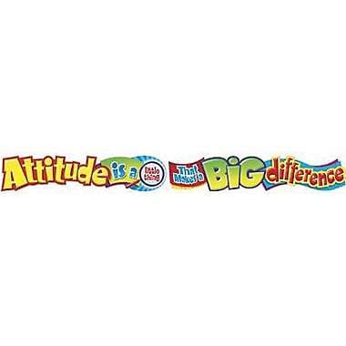 Trend Enterprises® 1st - 9th Grades Banner, Attitude Is A Little Thing