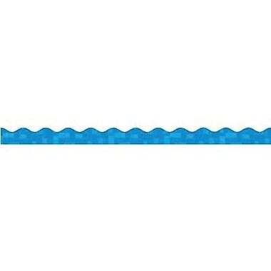 Teacher's Friend® Pre-kindergarten - 8th Grades Scalloped Trimmer, Blue Graphic Pattern