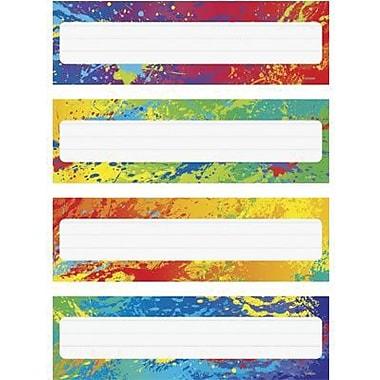 Trend Enterprises Kindergarten - 4th Grades Name Plate, Splashy Colors, 192/Pack (T-69906)