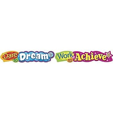 Trend T-25053 10' Dare To Dream It Quotable Expressions Banner, Multicolour