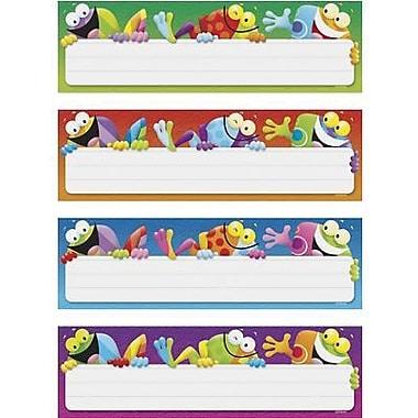 Trend Enterprises® Desk Toppers® Name Plates Variety Pack, Frog Tastic, 32/Pack (T-69902)