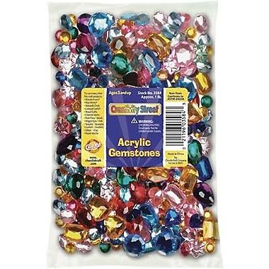Chenille Craft - Paquet scolaire de pierres en acrylique, 1 lb