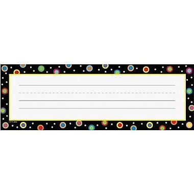 Creative Teaching Press, Infant - 6th Grades Name Plate, Dots On Black, 216/Pack (CTP4499)