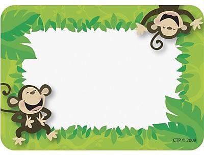 Poppin' Patterns™ Name Tags, Monkey Business