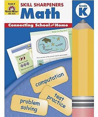 Evan-Moor® Skill Sharpeners, Math, Grade K
