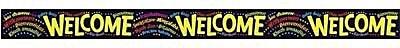 Trend Enterprises® Pre-kindergarten - 9th Grades Bulletin Board Border, Multilingual Welcome