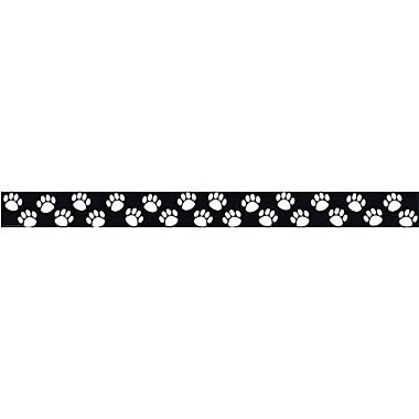 Teacher Created Resources P-12th Grades Straight Bulletin Board Border Trim, Black/white Paw Prints, 72/Pack (TCR4642)
