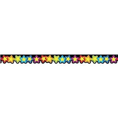 Creative Teaching Press - Bordure festonnée arc-en-ciel d'étoiles 6476 de 2,25 po x 35 pi, multicolore