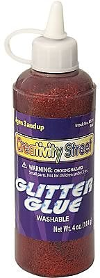 Chenille Kraft Glitter Glue 4 oz., 12/Bundle, Red
