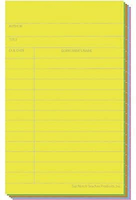 Top Notch Teacher Products® Library Card, Brite Assorted (TOP369)