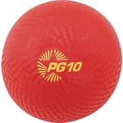 "Champion Sports® Playground Ball, Red, 10""(Dia)"
