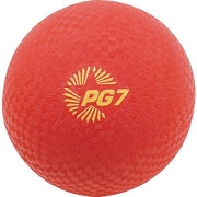 "Champion Sports® Playground Ball, Red, 7""(Dia)"