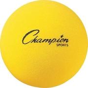 "Champion Sports® Foam Ball, 8 1/2""(Dia), Yellow"