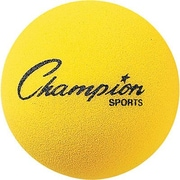 "Champion Sports® Foam Ball, Yellow, 4""(Dia)"