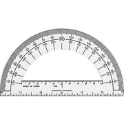 "Charles Leonard® Open Center Protractor, 6"" Ruler Edge"
