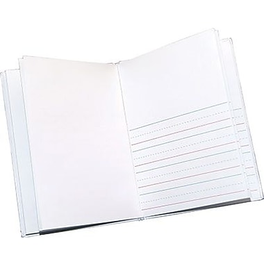 Ashley® Hardcover Primary Lined and Blank Journal, White, 8
