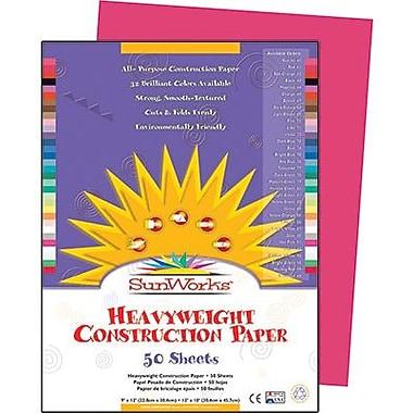 Pacon® SunWorks® Groundwood Construction Paper, Scarlet, 9