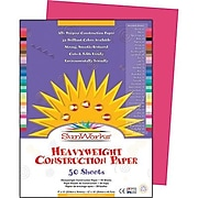 """Pacon® SunWorks® Groundwood Construction Paper, Scarlet, 9"""" x 12"""", 50 Sheets (PAC6003)"""