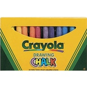 "Crayola 3 3/16"" Drawing Chalk, Assorted, 24/carton, 72/Pack (BIN510404)"
