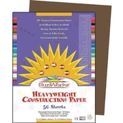 "SunWorks® Construction Paper, 9x12"", Dark Brown, 50 Sheets"