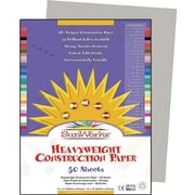 """Pacon® SunWorks® Groundwood Construction Paper, Gray, 9""""(W) x 12""""(L), 50 Sheets"""