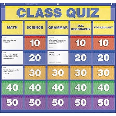 Teacher's Friend® Class Quiz Pocket Chart