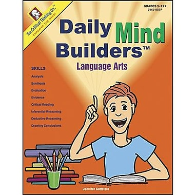 Critical Thinking Press Daily Mind Builders Language Arts Book, Grade 5 - 12th (CTB04601BBP)