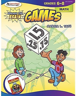 Corwin Engage The Brain Activity Games Book, Math