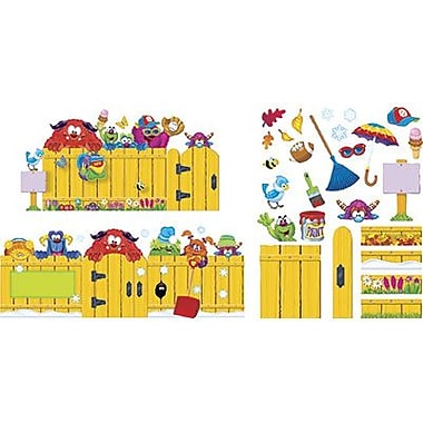 Trend Enterprises Furry Friends Bulletin Board Set, Year-Round Fence, 81/Pack (T-8314)