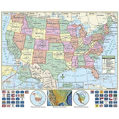 Kappa Map Group/universal Maps® Wall Map, Us Primary