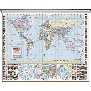 Kappa Map Group/universal Maps® Wall Map, World Primary