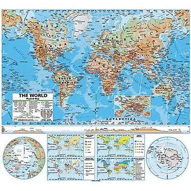 Kappa Map Group/universal Maps® Wall Map, World Advanced Physical