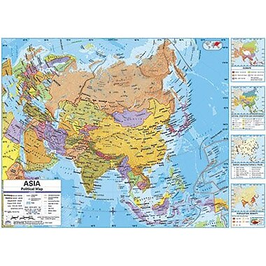 Kappa Map Group/universal Maps® Wall Map, Asia Physical