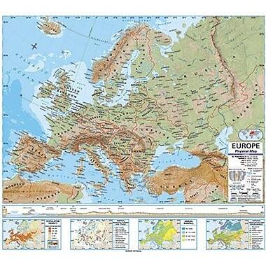 Kappa Map Group/universal Maps® Wall Map, Europe Advanced Physical