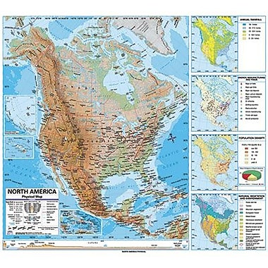 Kappa Map Group/universal Maps® Wall Map, North America Advanced Physical