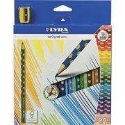 Dixon Ticonderoga® 3.3 mm Colored Pencil, Assorted, 24/Box