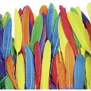 Chenille Craft® Bright Color Duck Quill Feathers, 96 Pieces