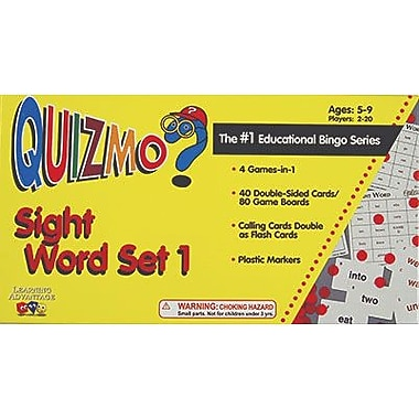 Learning Advantage – Jeu de bingo Quizmo Sight Word Set 1, de la maternelle à la 4e année (CTU8207)