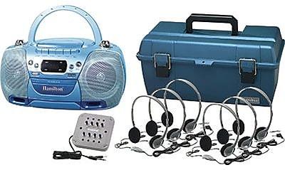 Hamilton Buhl™ Val-U-Pak USB, MP3, CD Listening Center With 6 Personal Headphones