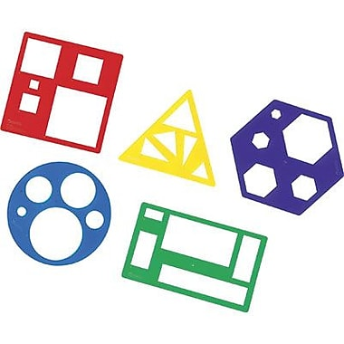 Learning Resources Primary Shapes Template Set, 10/Pack (LER5440)